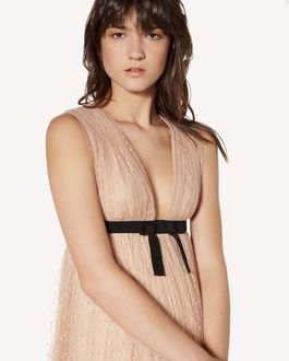 REDValentino Tulle point d'esprit pleated dress