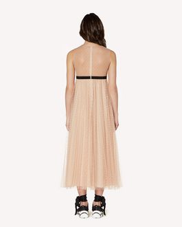 REDValentino Pleated point d'Esprit tulle dress