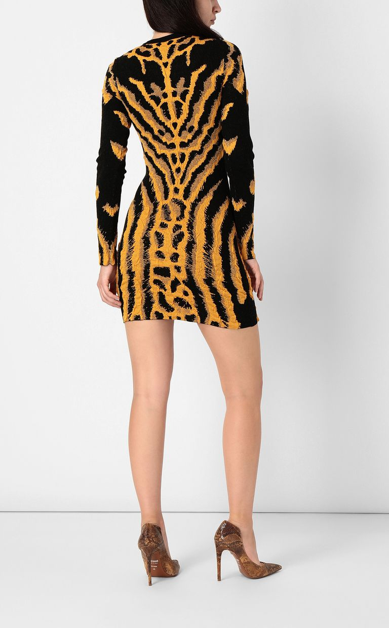 JUST CAVALLI Short zebra- &-leopard-print dress Dress Woman a