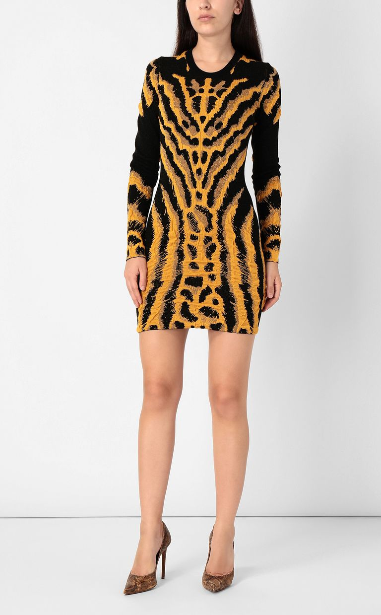 JUST CAVALLI Short zebra- &-leopard-print dress Dress Woman r
