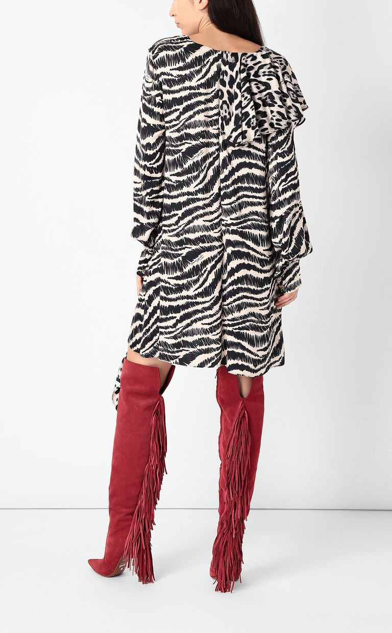 JUST CAVALLI Dress with zebra-stripe print Dress Woman a