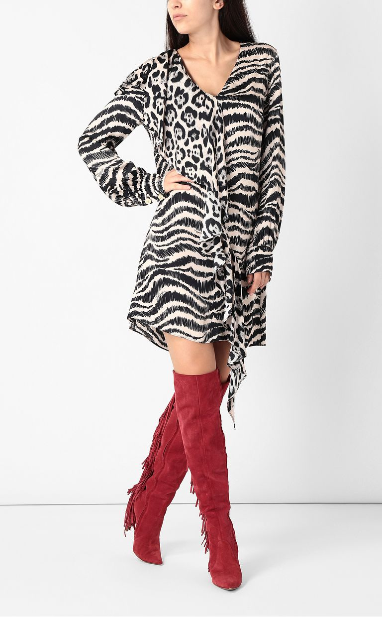 JUST CAVALLI Dress with zebra-stripe print Dress Woman d