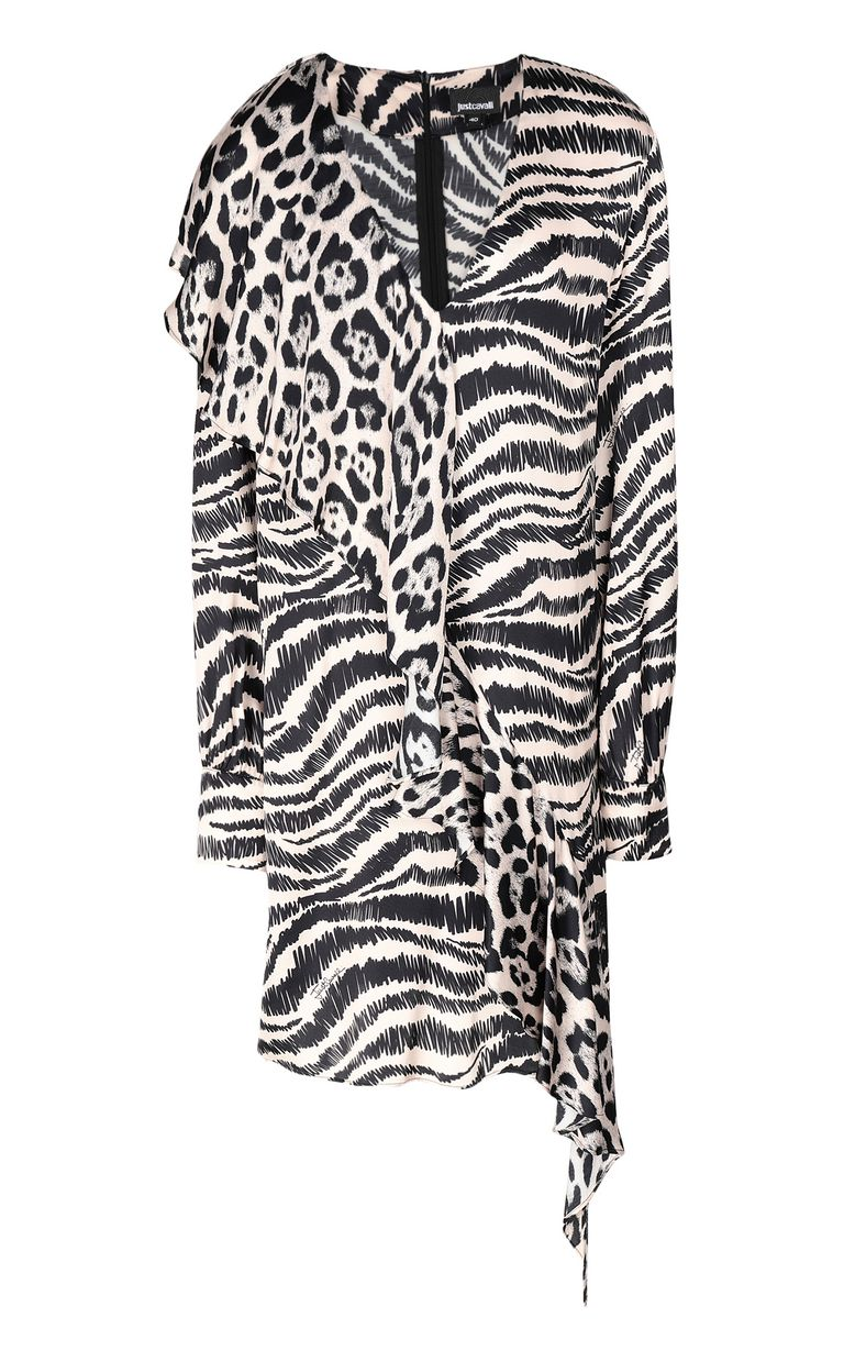 JUST CAVALLI Dress with zebra-stripe print Dress Woman f