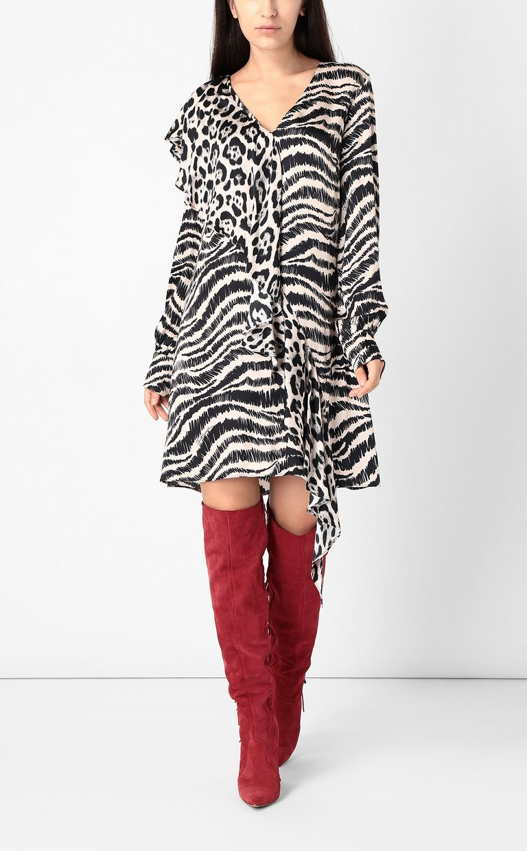 JUST CAVALLI Dress with zebra-stripe print Dress Woman r