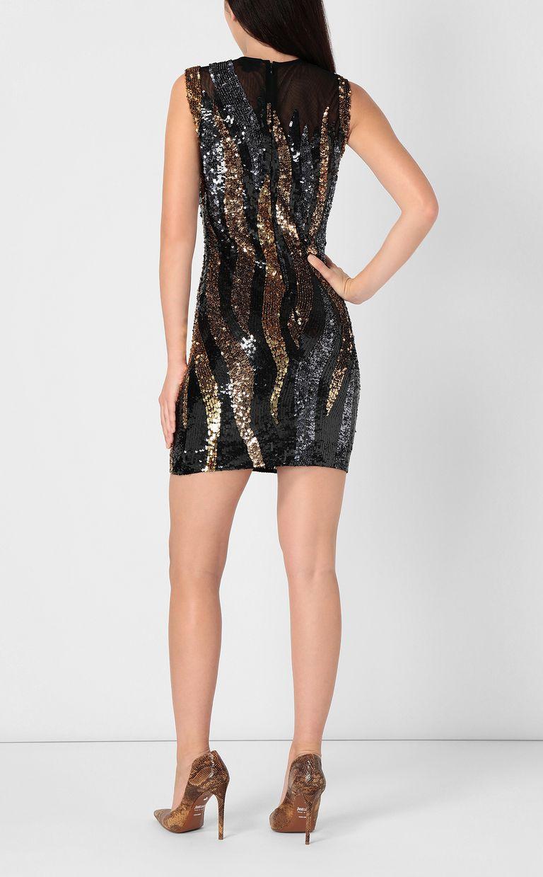 JUST CAVALLI Mini dress with sequins Dress Woman a