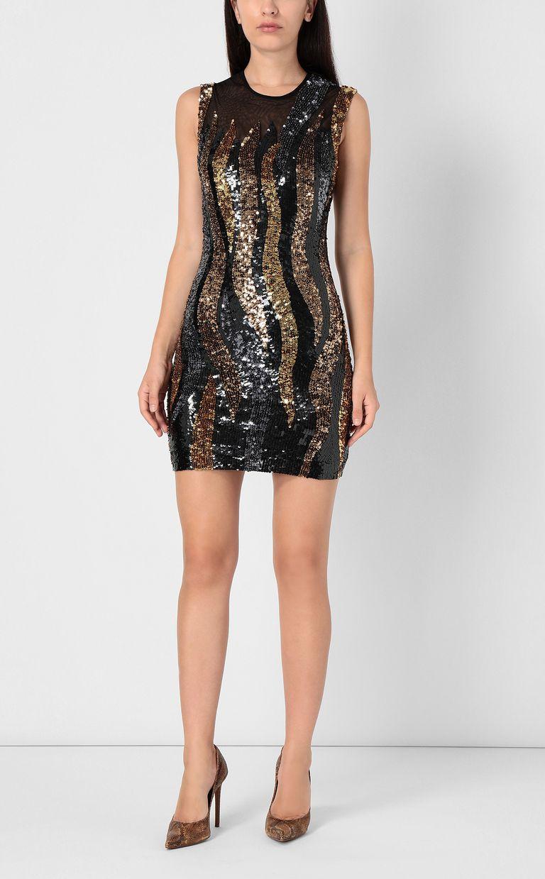 JUST CAVALLI Mini dress with sequins Dress Woman r