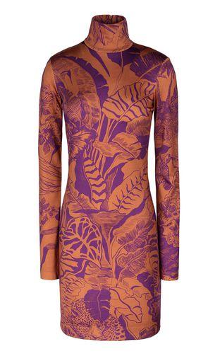 """JUST CAVALLI Dress Woman """"Polynesian-Jungle"""" print dress f"""