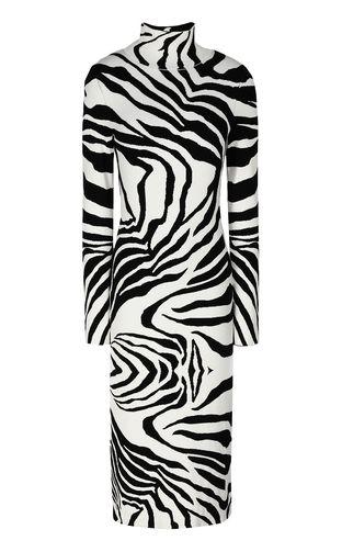 JUST CAVALLI Dress Woman Dress with zebra-stripe print f