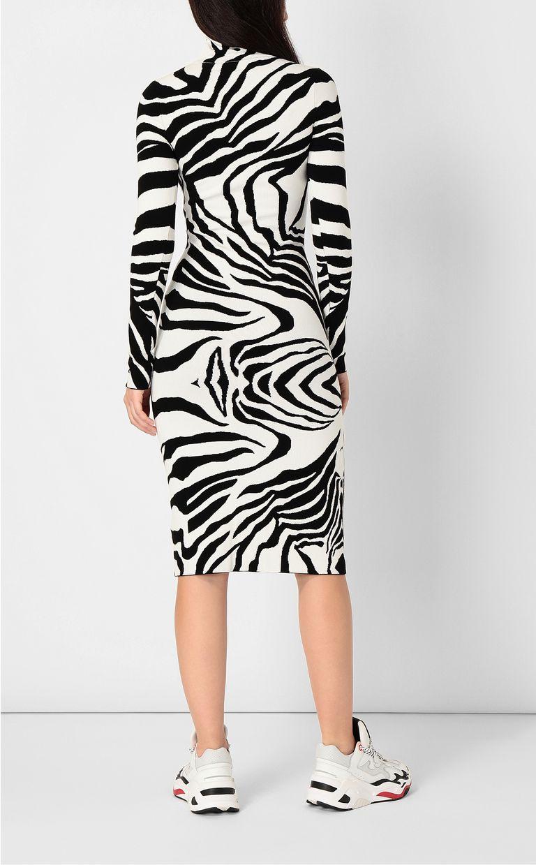 JUST CAVALLI Dress with zebra-stripe print Dress Woman a