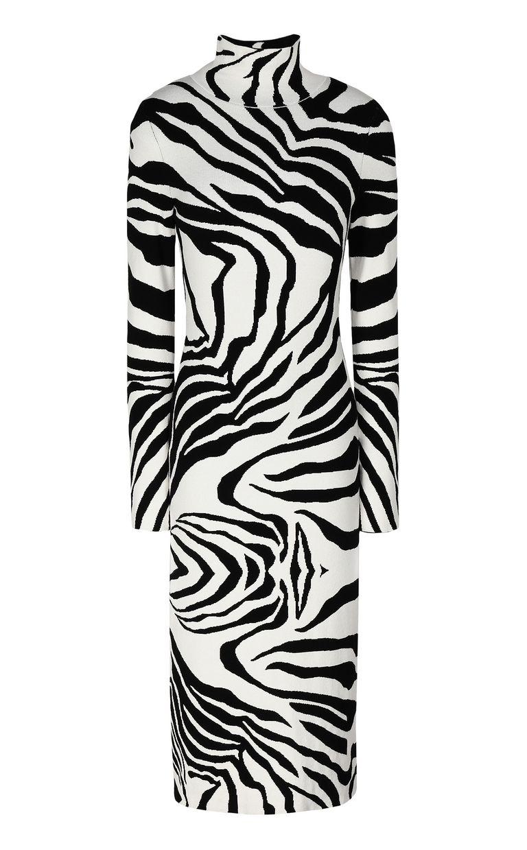JUST CAVALLI Dress with zebra-stripe print Dress Woman f