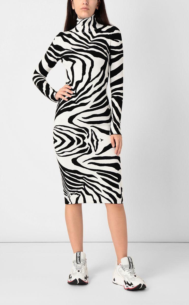 JUST CAVALLI Dress with zebra-stripe print Dress Woman r