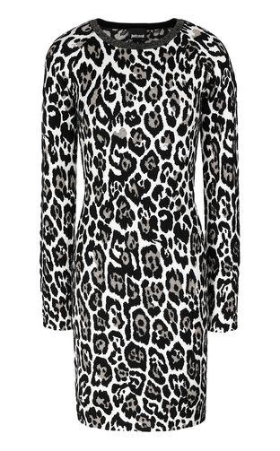 JUST CAVALLI Dress Woman Short zebra-stripe-print dress f
