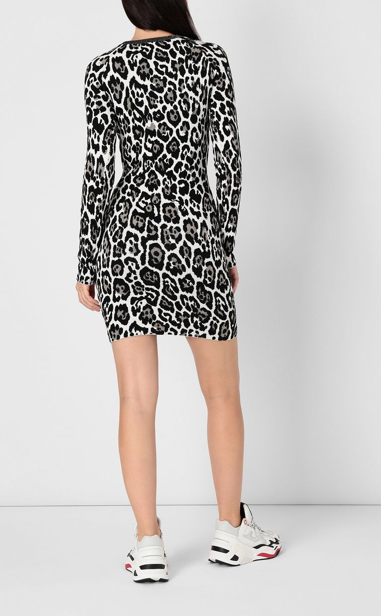 JUST CAVALLI Leopard-spot dress Dress Woman a