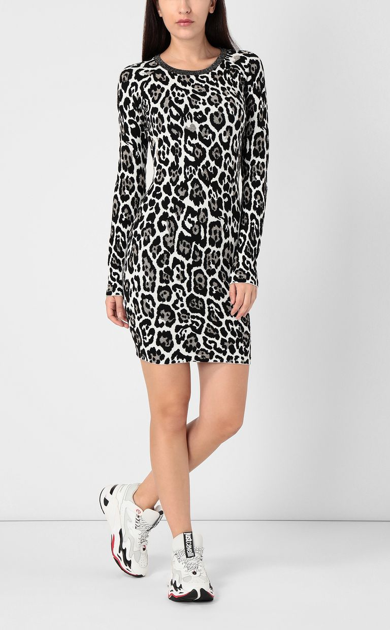 JUST CAVALLI Leopard-spot dress Dress Woman d