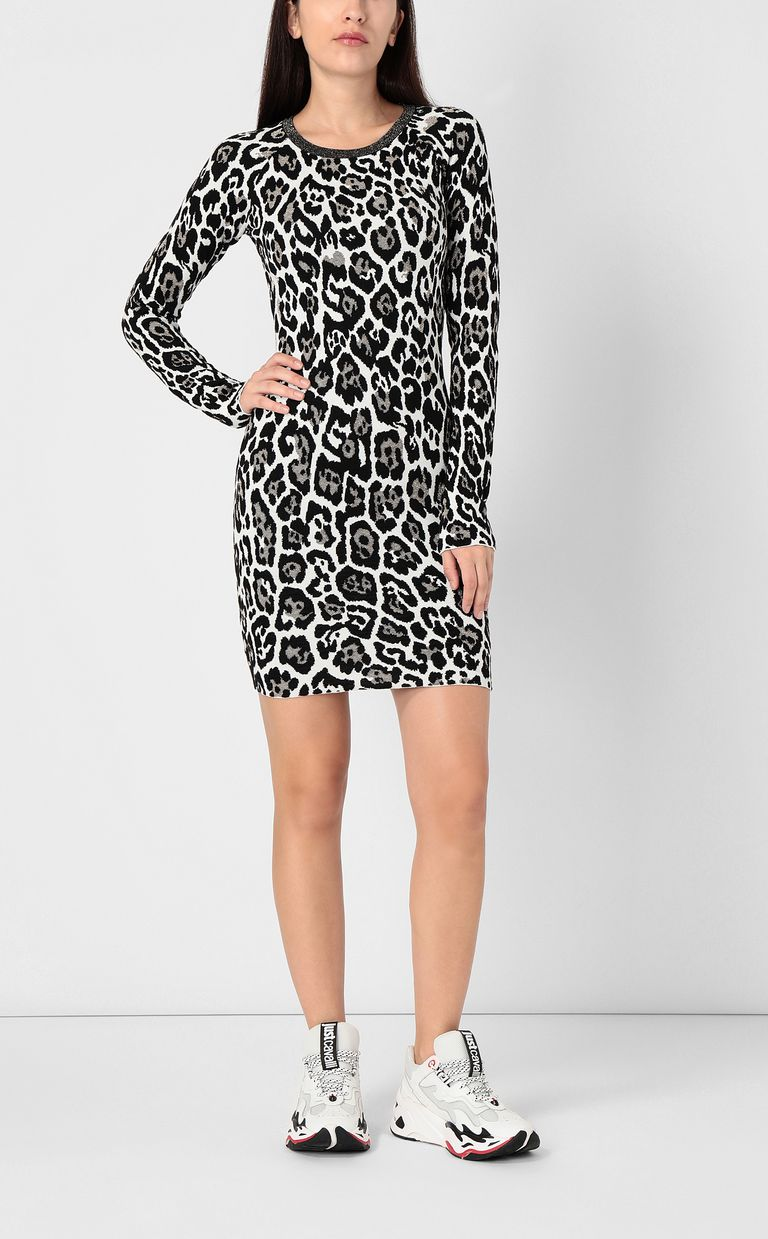 JUST CAVALLI Leopard-spot dress Dress Woman r