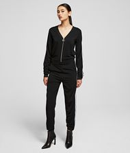 KARL LAGERFELD Crepe Jersey Jumpsuit 9_f