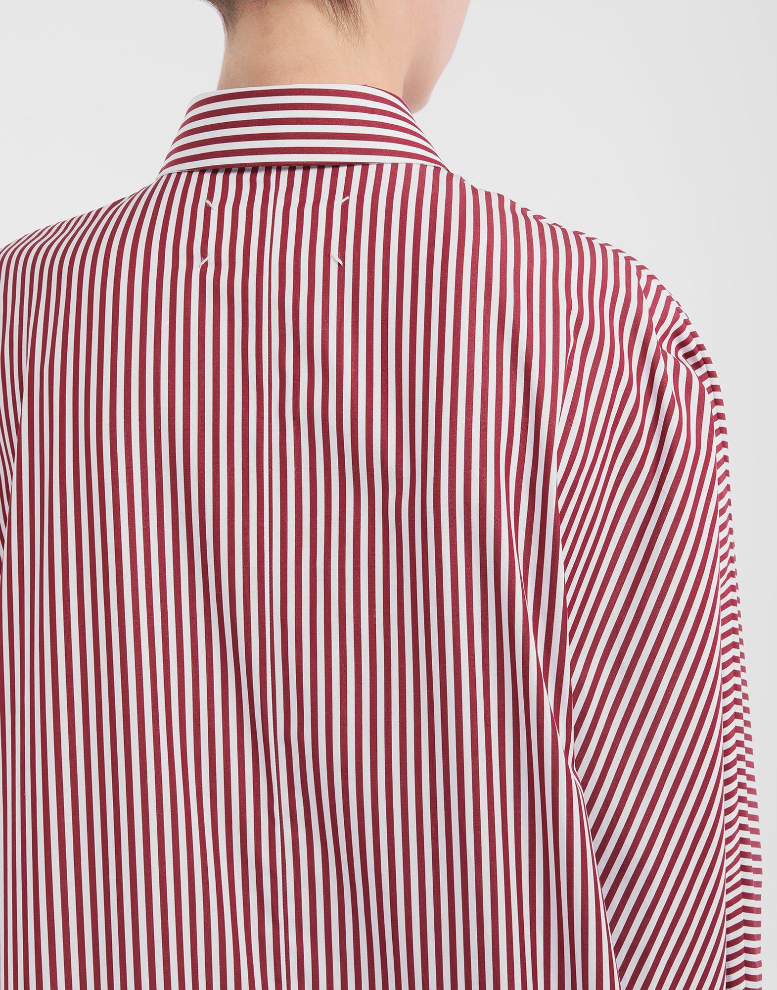 MAISON MARGIELA Camisa con dobladillo asimétrico y raya diplomática Minivestido Mujer b