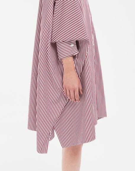 MAISON MARGIELA Pinstripe asymmetric hem shirt Short dress Woman a