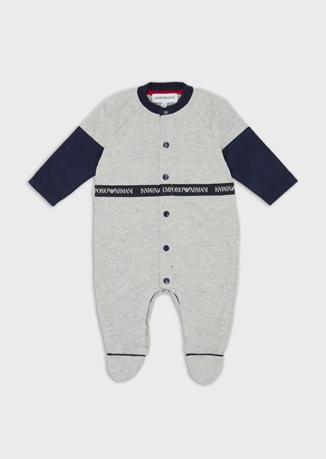 Baby suit with logo band