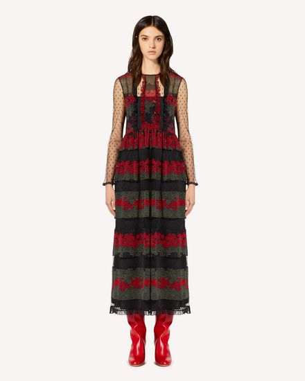 REDValentino Long dress Woman SR3VAG344AR 0NO f