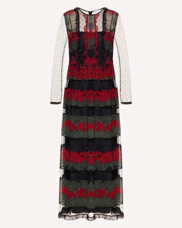 REDValentino SR3VAG344AR 0NO Long dress Woman a