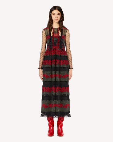 REDValentino SR3VAG344AR 0NO Long dress Woman f