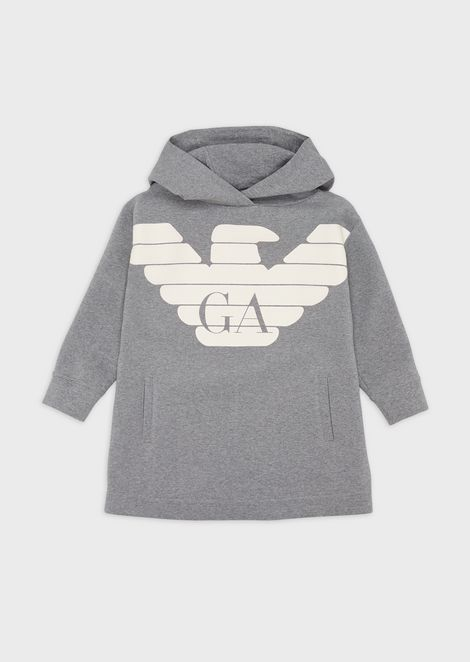 Oversized, logoed hooded sweatshirt