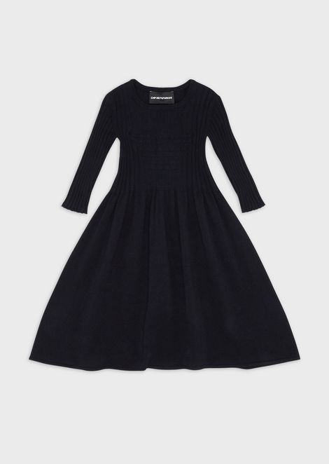Flared knit dress