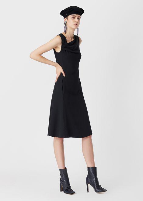 Cady, tie-neckline midi dress