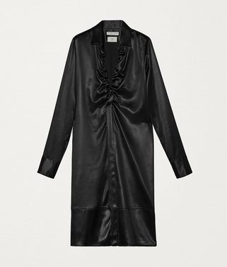 DRESS IN LACQUER SATIN