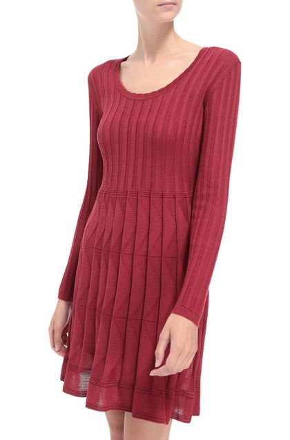 M MISSONI Dress Brick red Woman - Front
