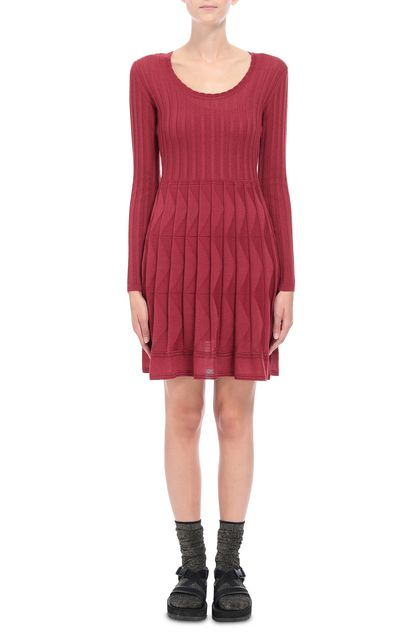 M MISSONI Dress Brick red Woman - Back