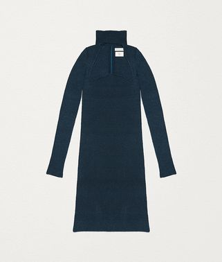 针织真丝连衣裙
