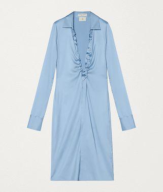 丝缎连衣裙