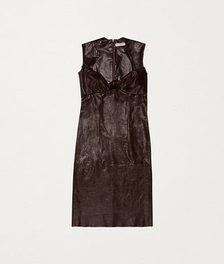 DRESS IN PAPER CALF LEATHER