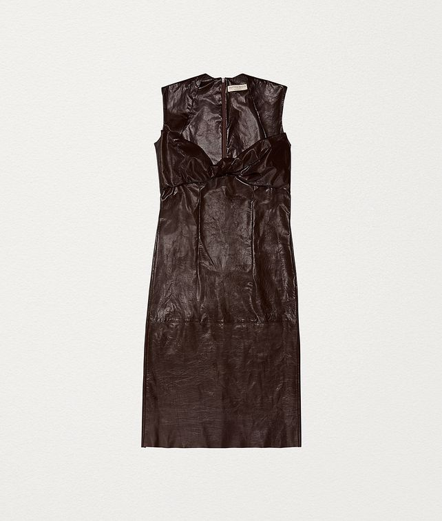 BOTTEGA VENETA DRESS IN PAPER CALF LEATHER Dress Woman fp