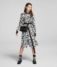 KARL LAGERFELD Orchid Print Silk Shirt Dress 9_f