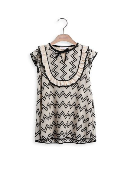 MISSONI KIDS Dress Beige Woman - Back
