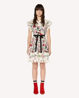 REDValentino Silk dress with Cherry Blossom print
