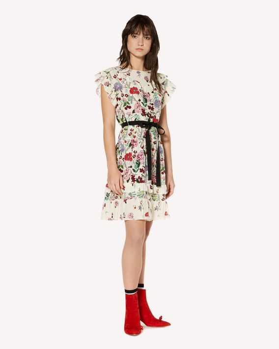 REDValentino Cherry Blossom printed silk dress