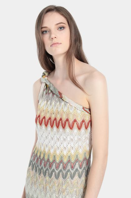 MISSONI Long dress Green Woman - Front