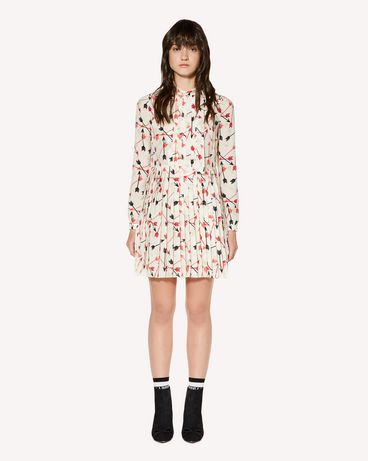 REDValentino Arrows printed crepe de chine dress