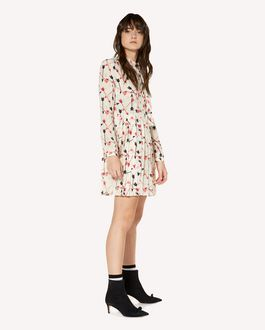 REDValentino Crepe de Chine dress with arrow print