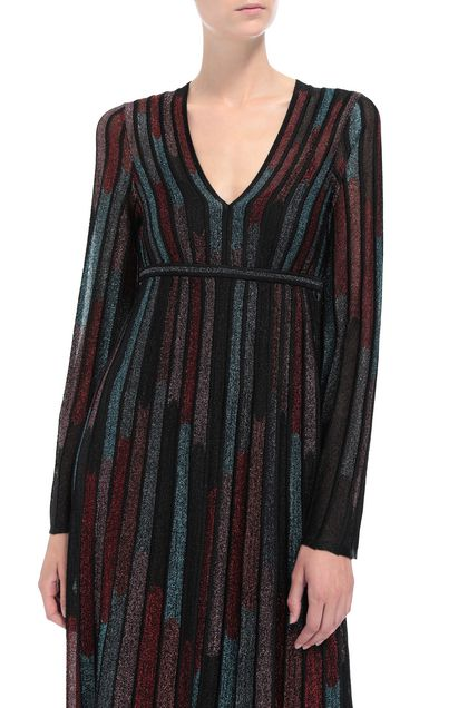 M MISSONI Long dress Black Woman - Front