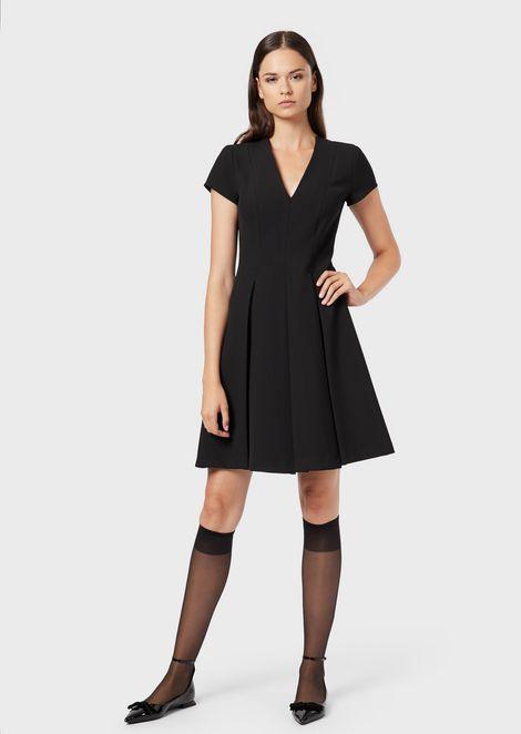 Платье из эластичного кади со складками