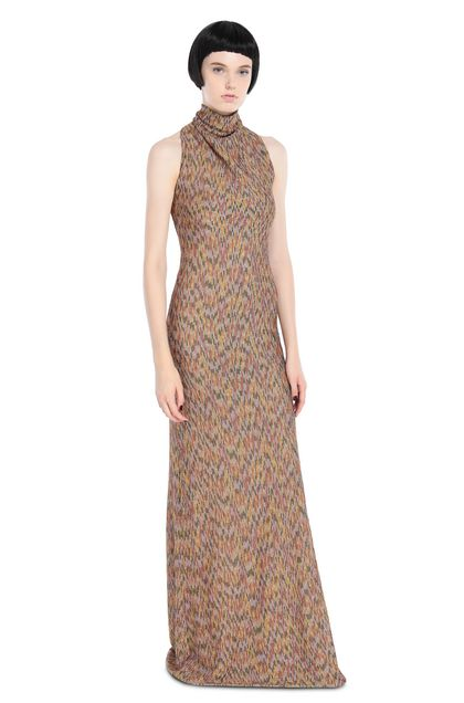 MISSONI Long dress Lilac Woman - Back