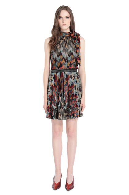 MISSONI Dress Deep purple Woman - Back