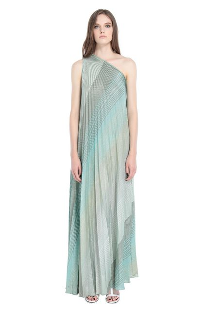 MISSONI Long dress Light green Woman - Back