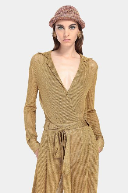 MISSONI Jumpsuit Gold Woman - Front