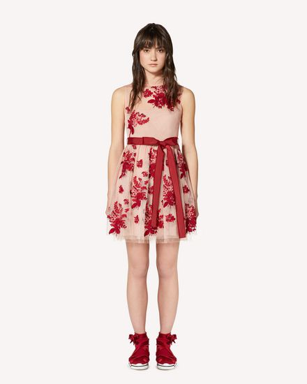 REDValentino Printed dress Woman SR0VA05B4KM PE0 f